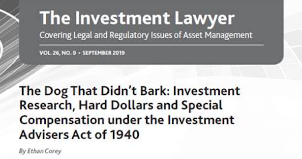 investment lawyer screenshot the dog that didn't bark title