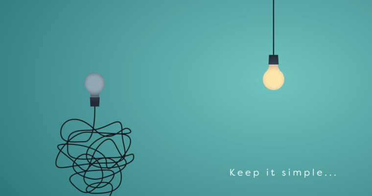 light bulbs showing keep it simple concept