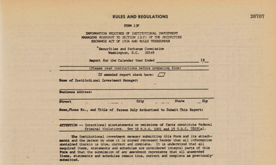 rules and regulations form from securities exchange act of 1934